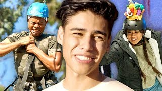 Andrew Davila Can't Speak BLOOPERS | On The Road with The Carpe Challenge: Los Angeles