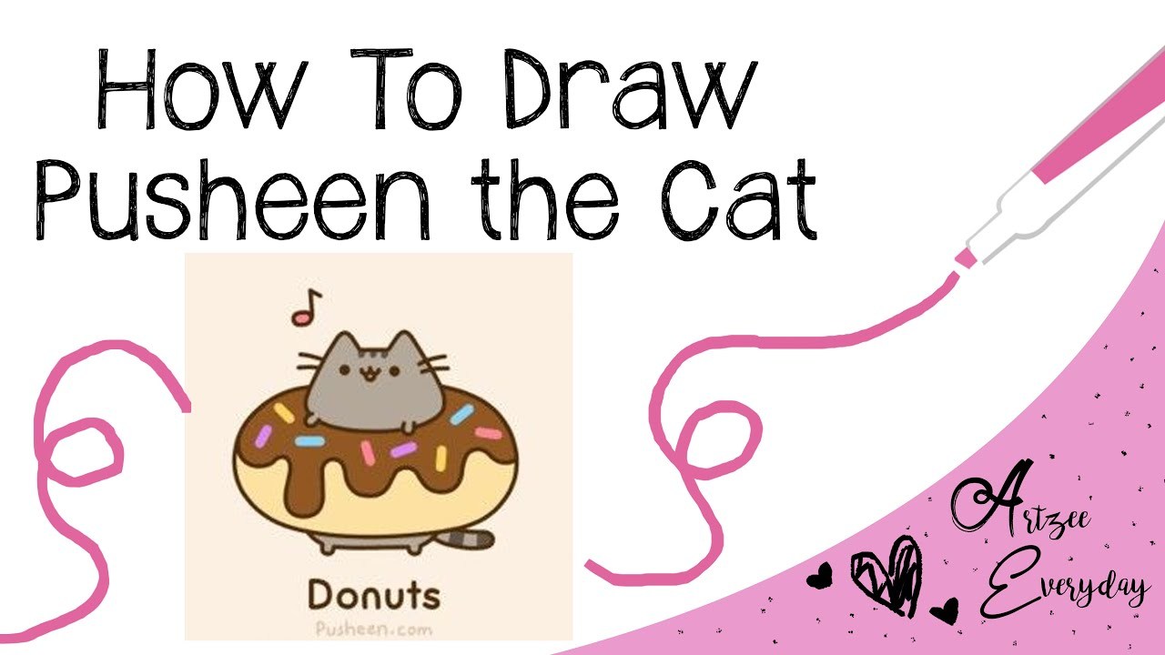 how to draw pusheen the cat youtube