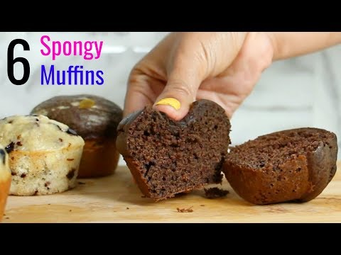 6 Tasty SPONGY Muffins Your KIDS Will Love | Muffin Recipes At Home | CookWithNisha