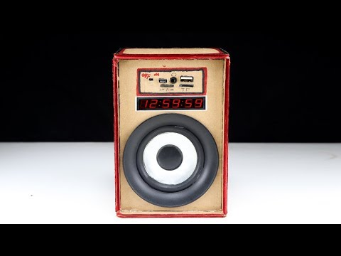 How to make Mp3 Player With Powered Speaker From Cardboard  - DIY Powered Speaker at Home