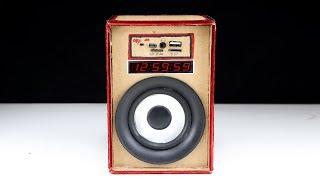 كيفية جعل مشغل Mp3 مع مكبر الصوت بالطاقة من الورق المقوى - DIY مدعوم المتكلم في المنزل