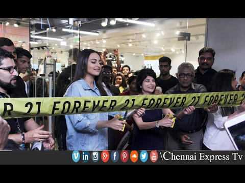 Forever 21 shop Launch of Actress Sonakshi Sinha at Express Avenue Mall | Chennai Express Tv