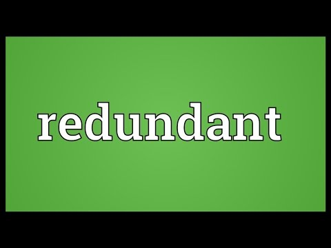 Redundant Meaning