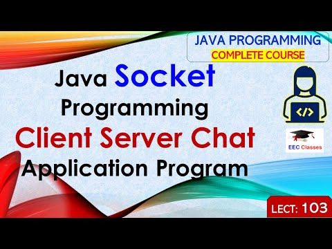 Java Socket Programming – Complete Client Server Chat Application Program In Hindi And English