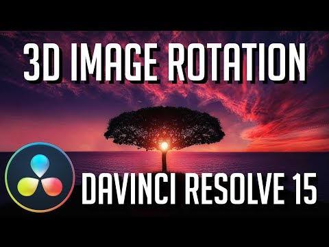 How to Make an Image 3D and Rotate it on X Y Z Axis | DaVinci Resolve 15 Fusion Tutorial