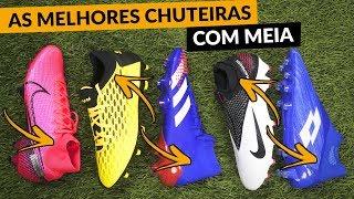ESTAS SÃO AS MELHORES CHUTEIRAS COM MEIA DO MOMENTO - CHUTEIRA DE BOTINHA COM MEIÃO NIKE