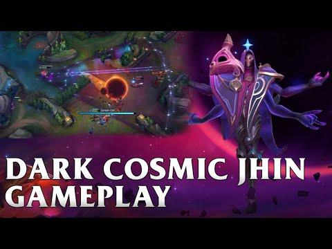 Dark Cosmic Jhin Skin Gameplay - WILD RIFT