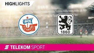 FC Hansa Rostock  – TSV 1860 München   Spieltag 7, 18/19   Telekom Sport