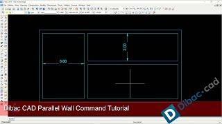 DibacCAD Design Parallel Wall Modeling Tutorial For Beginner