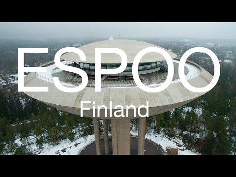 Espoo, Finland from birds eye view