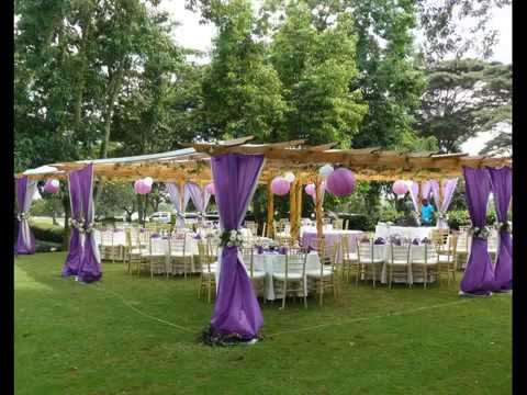 Linens And Decor Kenya Party Pergola Purple Wedding Setup