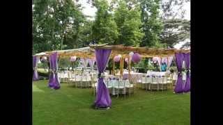 Linens And Decor Kenya Party Pergola Purple Wedding Setup