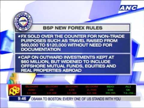 BSP eases forex rules to tame peso's rise