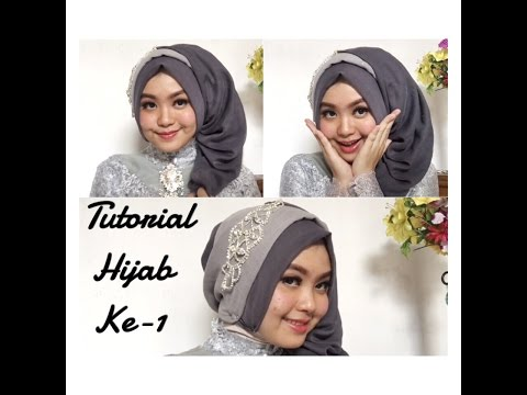 Tutorial Hijab Pesta Segi Empat Untuk Wajah Bulat