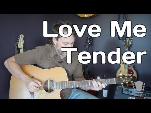 Love Me Tender by Elvis Presley - Guitar Lesson - How To Play