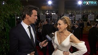 It was a special night for sarah jessica parker, who back on the golden globes carpet after making her return to tv. nominated role h...