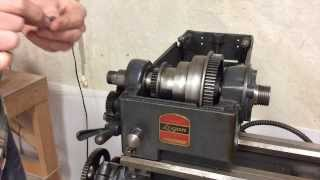 #1 Spindle disassembly and serpentine conversion on a Logan Model 200 Lathe