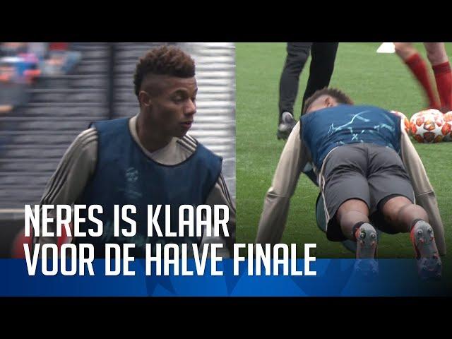 De training van Neres voor Tottenham-uit