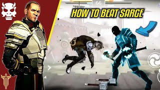 Shadow Fight 3 HOW TO BEAT SARGE