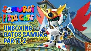 samuraipizzacats #gatossamurais #unboxing La segunda parte de este unboxing y reseña de las figuras de los Gatos Samurai tambien conocidos como los ...