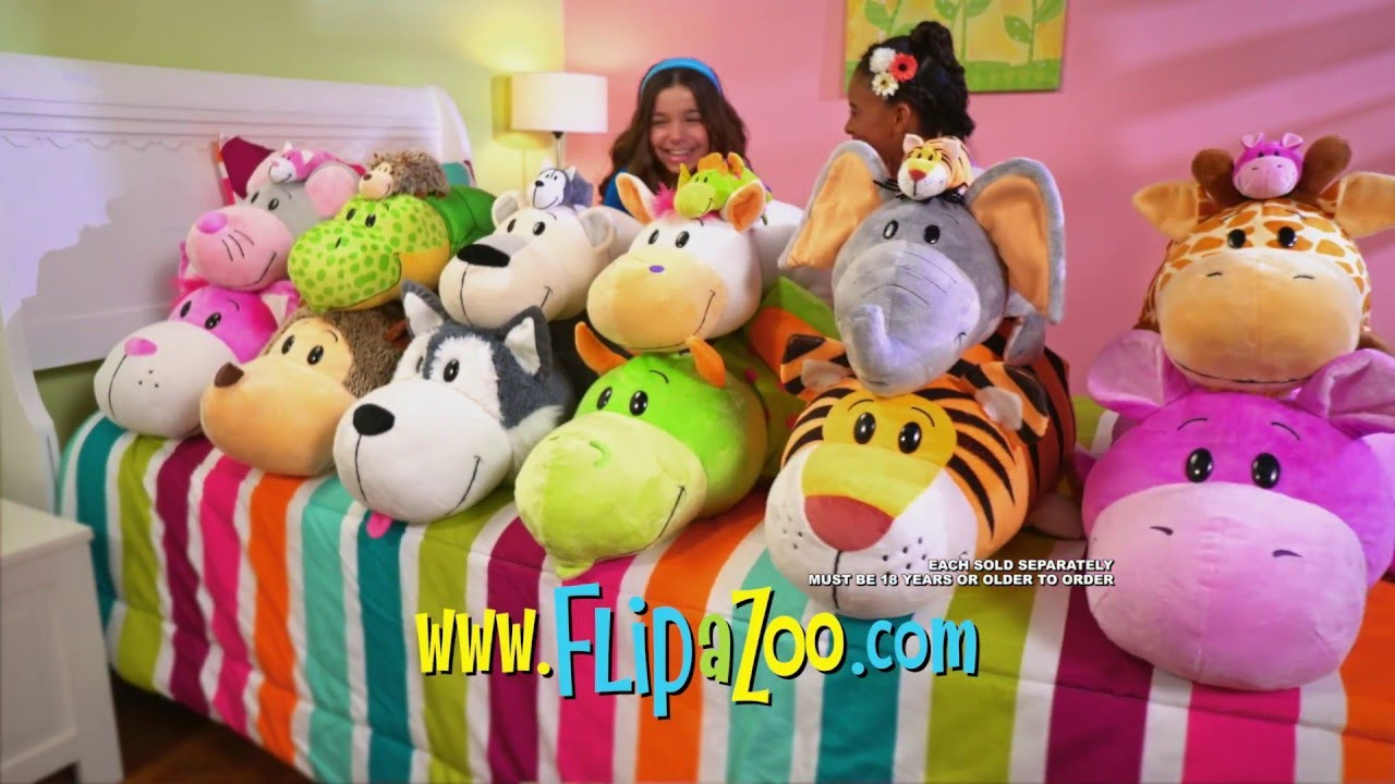 Animal Pillow Case As Seen On Tv : The Official Commercial for FlipaZoo! I As Seen on TV - YouTube