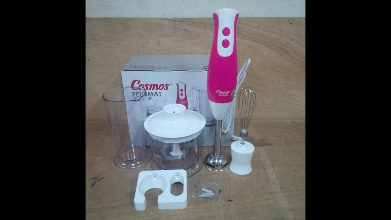 Hand Blender 3in1 Cosmos Cb 653 Hb Pink Youtube