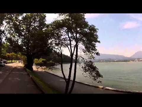 Vanvouver GoPro Bike Ride Coal Harbor around Stanley Park to Burrard Bridge