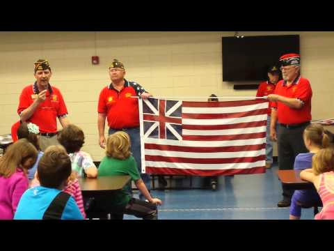 VFW Post 10483 Flag Program at Jessieville Elementary School