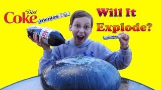 WUBBLE BUBBLE DIET COKE MENTOS EXPERIMENT - WILL IT EXPLODE?   COLLINTV