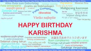 Karishma   Languages Idiomas - Happy Birthday