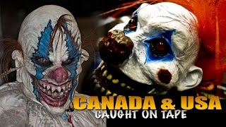 Creepy Clown SIGHTINGS on the Rise in USA and CANADA WIDE