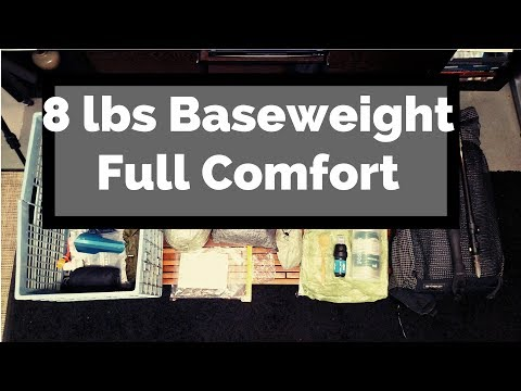 2017 8lbs Ultralight Backpacking Thru Hike Gear List - PCT / AT / CT