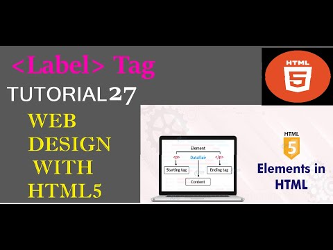 Label Tag In Html|WEB DESIGN WITH HTML|HTML Crash Course For Absolute Beginners|how To Use Tags