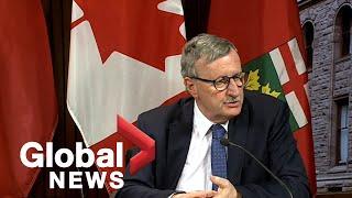 Coronavirus outbreak: Ontario officials provide update on COVID-19 response   FULL