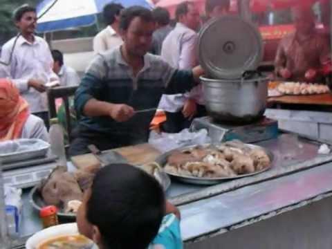 China: Food Stands in Hotan(Hetian) 中国新疆ウイグルの旅 ホータンの屋台