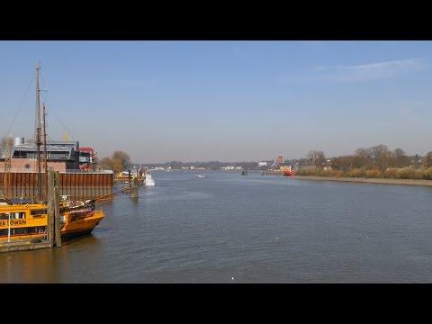 Hamburg, Germany: Finkenwerder, Köhlfleet, Kutterhafen (Cutter Harbor) - 4K UHD Video Image