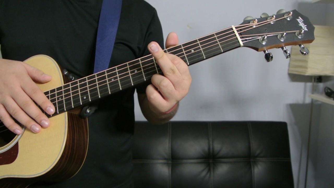 How To Play A B Flat 6 Chord Guitar Tutorial Youtube