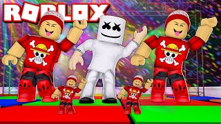The EPIC TEAM OF GIANT DANCERS at ROBLOX → GIANT DANCE OFF SIMULATOR 🎮
