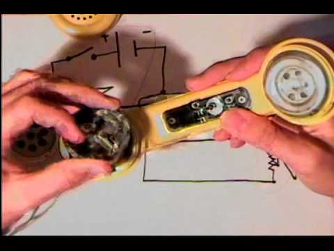 Build a simple communicator using old telephone handsets!! on