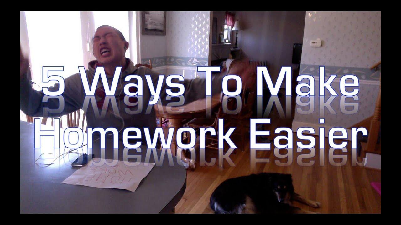 how to make homework easier