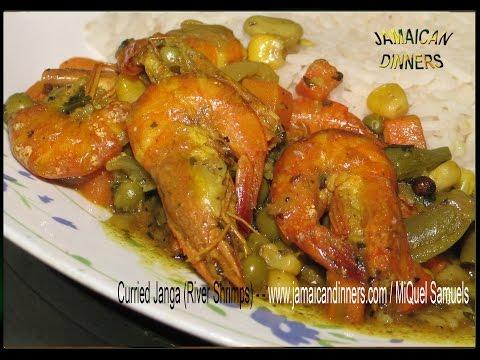 CURRIED JANGA, CRAYFISH, or RIVER SHRIMPS recipe