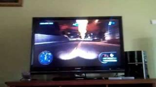 "Midnight Club: Los Angeles - Sharp Aquos 46"" Gameplay - Playstation 3 [SD, Omnia Recored]"