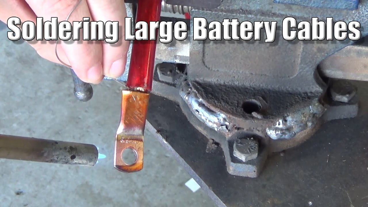 Soldering Large Battery Cables - YouTube