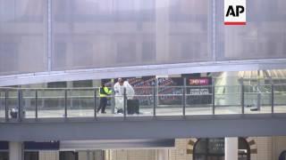 Scenes at Victoria Station near Manchester Arena