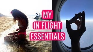 IN-FLIGHT TRAVEL ESSENTIALS For A Long Haul Flight - Ivy Rode Extra