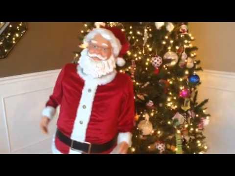Gemmy Singing Dancing Karaoke Santa Claus