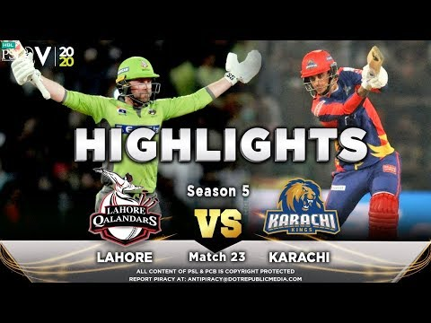 Lahore Qalandars vs Karachi Kings | Full Match Highlights | Match 23 | 8 March | HBL PSL 2020 | MA2