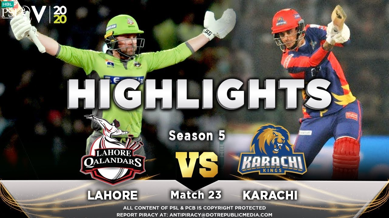 Lahore Qalandars vs Karachi Kings | Full Match Highlights | Match 23 | 8 March | HBL PSL 2020