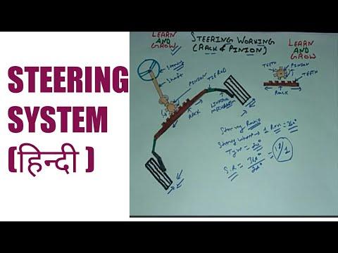 STEERING WORKING  (RACK & PINION )(हिन्दी )! LEARN AND GROW