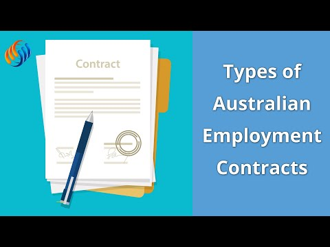 Types Of Employment Contracts In Australia  Youtube